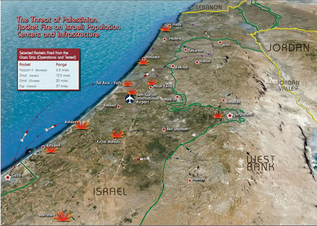 The Threat of Palestinian Rocket Fire on Israeli Population Centers and Infrastructure