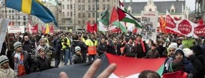 Manifestation à Malmoë