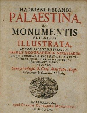 """""""Palestina"""" : un ouvrage historique essentiel"""