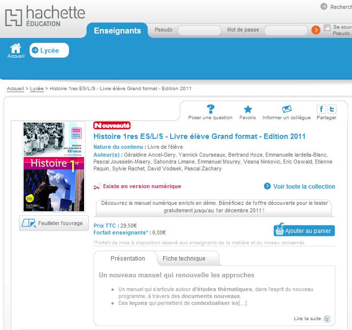 Courrier d indignation l intention des editions hachette par st phane perez - Sites de ventes en ligne ...