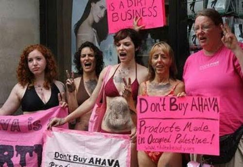Campagne de boycott contre le magasin AHAVA à Londres