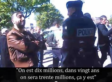 Manifestation islamiste pour la Charia à Paris