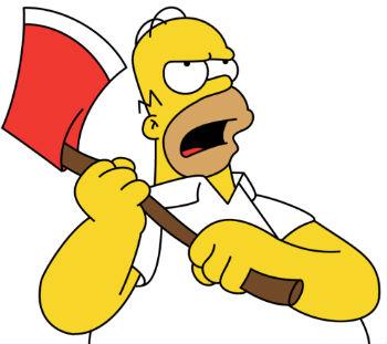 Homer Simpson en colère