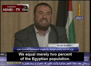 Hamas Interior Minister Slams Egypt over Fuel Shortage in Gaza Strip: We are Egyptians!