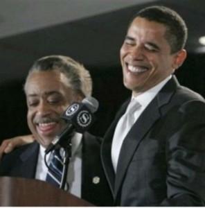 Obama et Al Sharpton, connu comme raciste et antisémite avril 2007