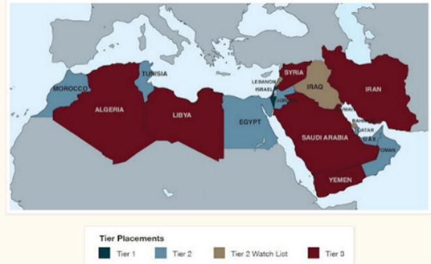 carte de l esclavage moderne