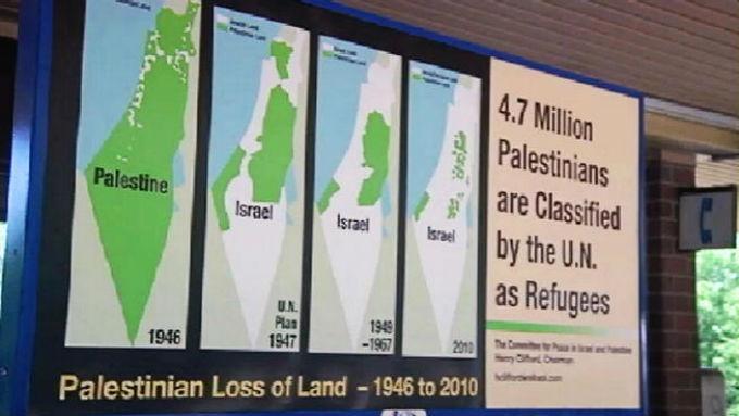 affiche pro-palestinienne mensongère sur les murs de New York