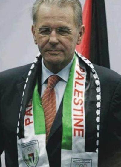 Jacques Rogge, président du CIO, fait de la propagande pour la «palestine»