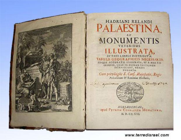 Palestina: un ouvrage historique de 1695. Surprise, il n'existait pas de « peuple palestinien ». Gaza était 50% juif et 50% chrétien