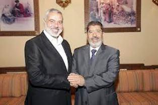 Mohamed Morsi et Ismaël Hanyieh du Hamas