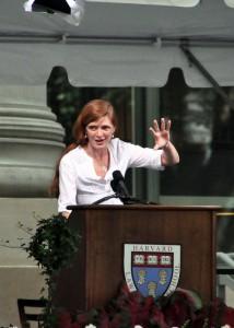 Samantha Power à L'université Harvard en 2010