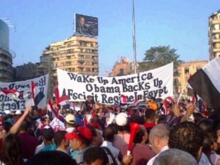 """""""Réveille-toi Amérique. Obama soutient un régime fasciste en Egypte"""""""