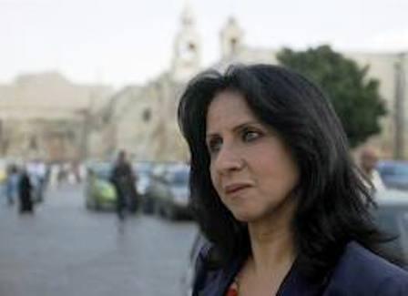 Vera Baboun, maire de Betlehem a subi aussi des violences et des incartades de la part d'administrés musulmans palestiniens