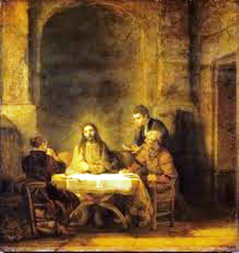 Le Christ se révélant aux pèlerins d'Emmmaüs'