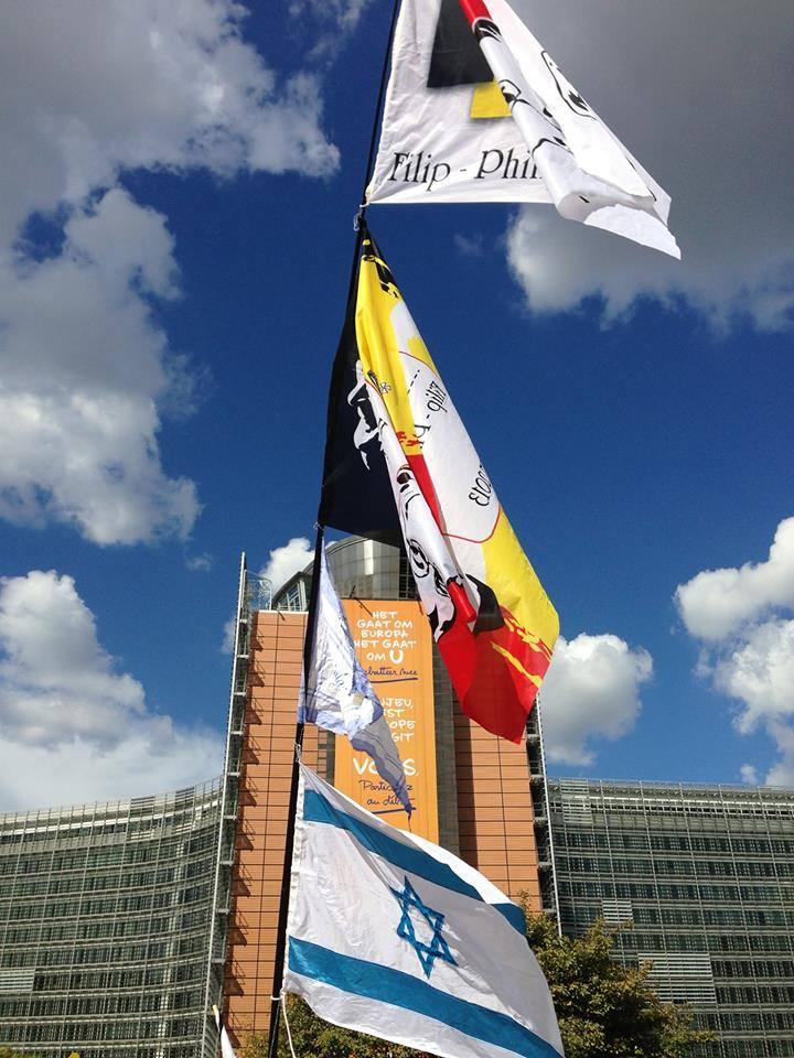 Bruxelles manifestation de soutien à Israel