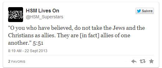 tweet jihadiste Nairobi