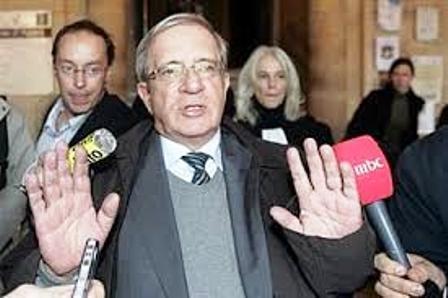 Charles Enderlin, le reporter de France 2  lors du procès intenté contre lui et la chaîne de Télévision française pour fabrication d'un faux