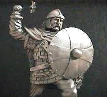 Charles Martel, son armure, son bouclier et sa Francisque