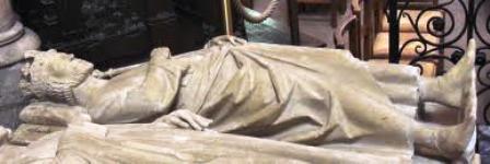 tombeau de Charles Martel en la Basilique St Denis près de Paris (93)