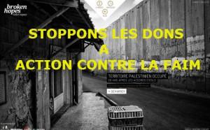 Stoppons les dons a Action contre la faim