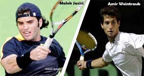 Malek Jaziri à gauche et Amir Weintraub à droite.