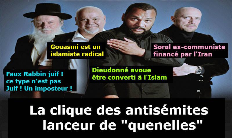 la clique antisémites de faiseurs de quenelles