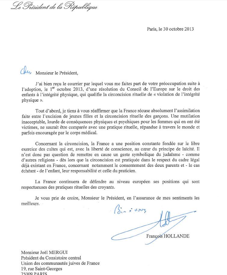 réponse François Hollande au Consistoire