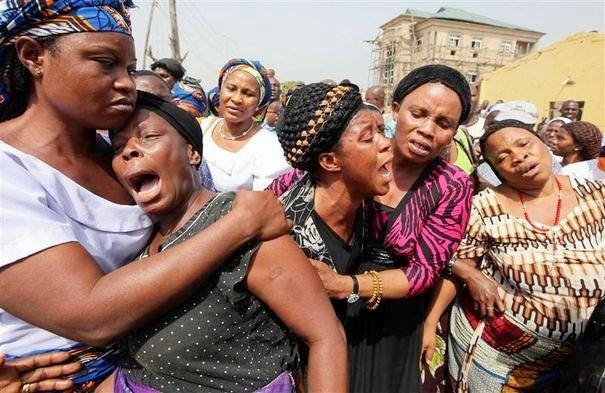 Des chrétiens : Scène de désespoir au Nigéria