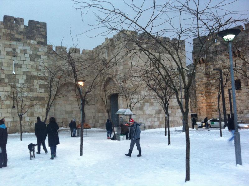 Jerusalem neige porte de JaffaIMG_2909
