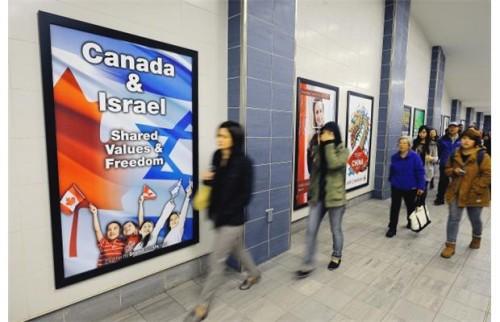 Campagne d'affichage dans le métro de Vancouver au Canada