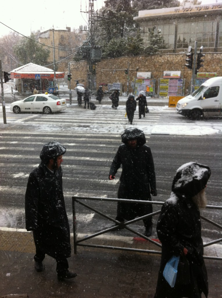neige à jerusalem vie quotidienne o