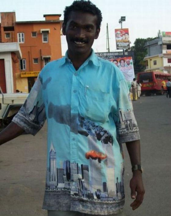 des chemises font l'apologie du 11 septembre