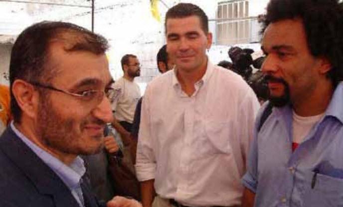 Dieudonné avec Chatillon et hussein Khalil, conseiller politique de hassan nasrallah, chef du hezbollah
