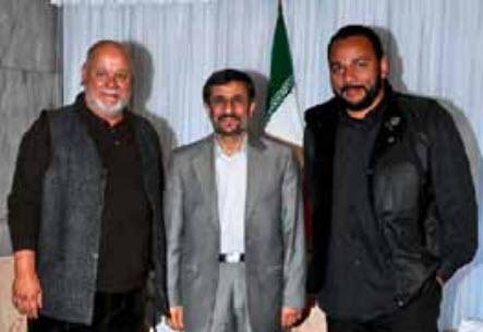 Dieudonné, avec Yahia Gouasmi,  audience privée avec le président Mahmoud Ahmadinejad