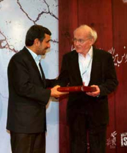 Farj, 2012 remise de prix à Faurisson par Ahmadinejad