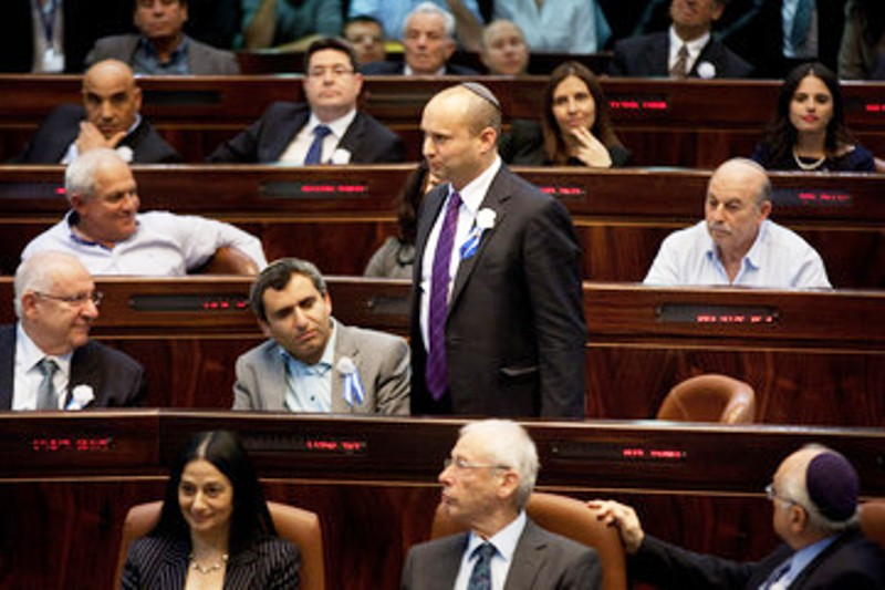 Knesset : Confrontation entre Naftali Bennett, Ministre israélien de l'Economie et Martin Schulz, Président du Parlement Européen.
