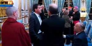 Manuel Valls en aparté avec Dalil Bobakeur