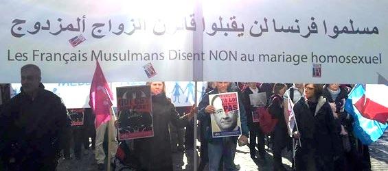 Je suis indignée par les Français musulmans à la Manif pour tous !