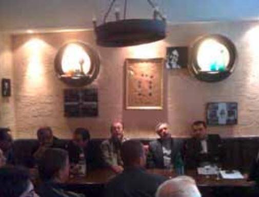 réunion de travail, au «Doux raisin», avec l'ambassadeur d'Iran
