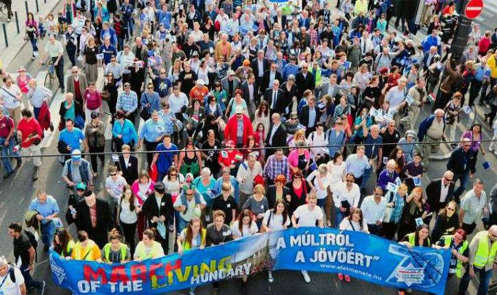 Hongrie: 25.000 personnes pour la 'Marche  de la Vie' en souvenir de la Shoah