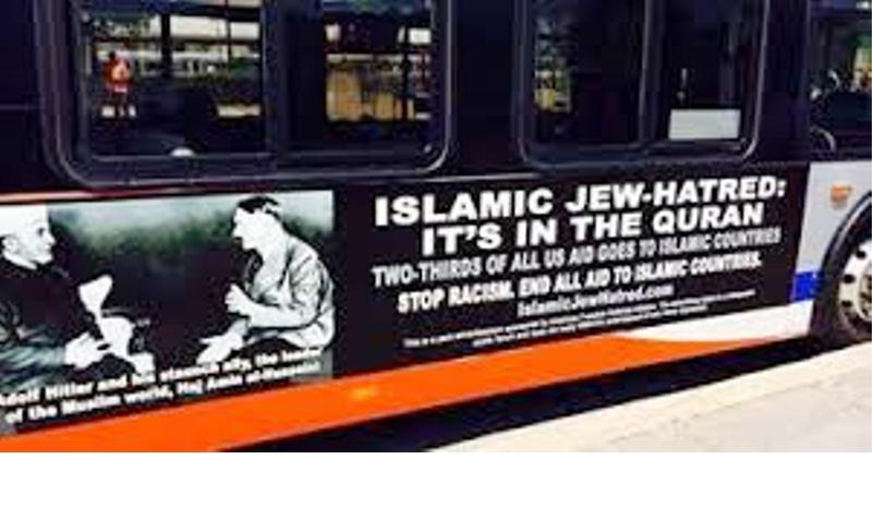 Des posters d'Hitler et du Mufti sur les Bus de Washington pour dire NON à l'aide US aux pays islamiques.