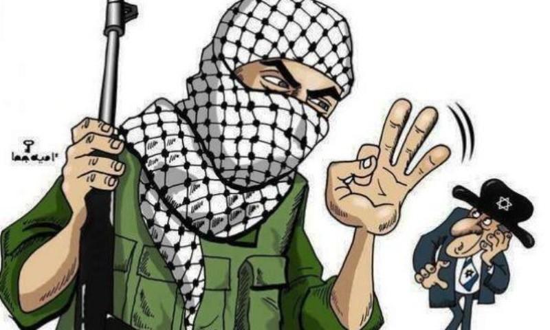 Tsahal retourne le symbole aux trois doigts contre le Hamas.