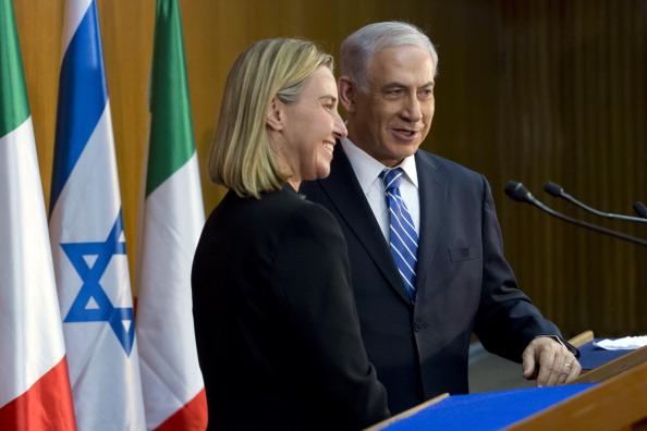 Federica Mogherini et le Premier ministre israélien Benjamin Netanyahu