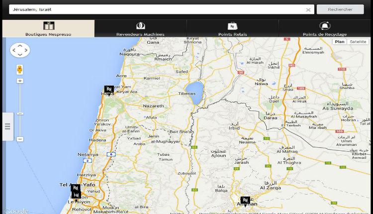 Nespresso rectifie son site suite à une action d'Europe Israël