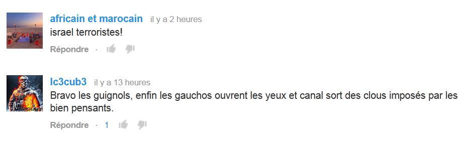 Commentaires sur youtube : Chez les gazaouis tout es permis Les Guignols de l'Info Canal+