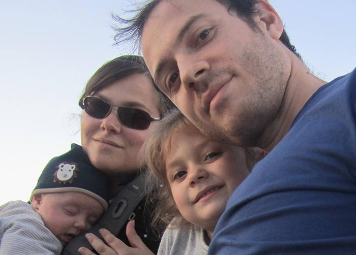 Mon mari et mes deux enfants