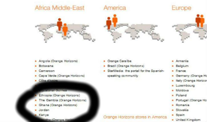 Israêl ne figure pas dans la liste des pays où opère orange