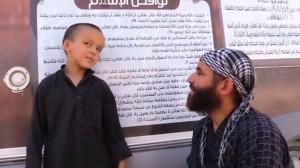 Le petit Abdullah dit le Belge, à Raqqa (site Vice News).