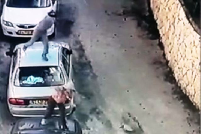 Rock-Throwing-standing-on-cars