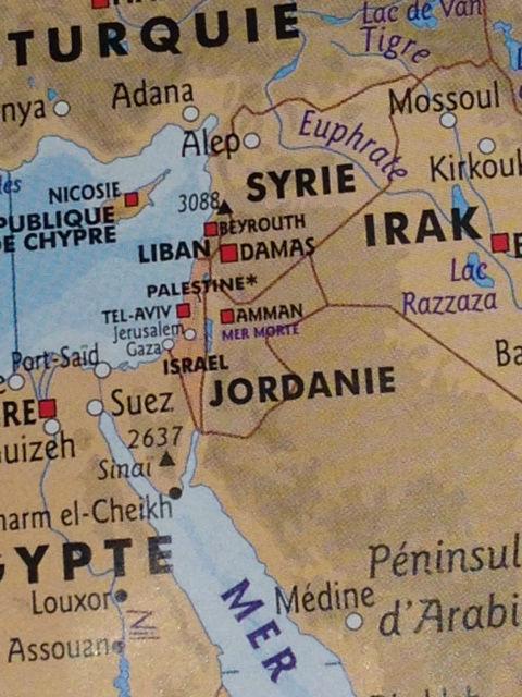 Carte MSF 2014 MSF a reconnu la Palestine